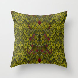 Snakeskin graphics. Throw Pillow