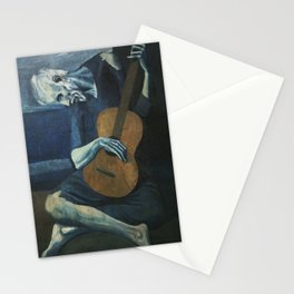 The Old Guitarist Stationery Cards
