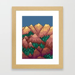 Natural Mountains Framed Art Print