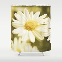 daisy Shower Curtains featuring Daisy by Deborah Lehman