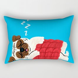 Pug In A Rug Rectangular Pillow