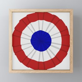 French Flag Cockade Pin Framed Mini Art Print