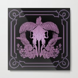 Negative purple Metal Print