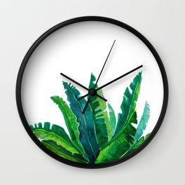 simple green Wall Clock