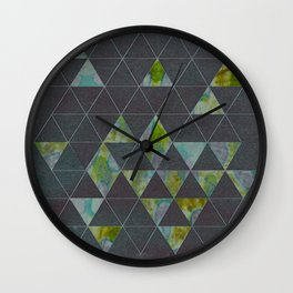 Reverse Triangles Wall Clock