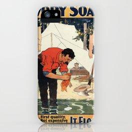Vintage poster - Soap iPhone Case