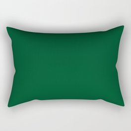 Forest Green (Traditional) - solid color Rectangular Pillow