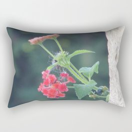 Red on the wall Rectangular Pillow
