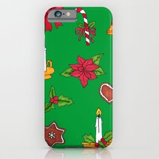 Christmas pattern (#2 green) Slim Case iPhone 6s