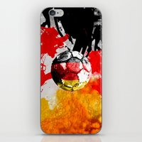 germany iPhone & iPod Skins featuring  football germany by seb mcnulty
