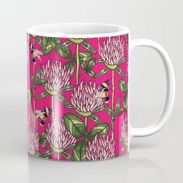 Red clover pattern Coffee Mug