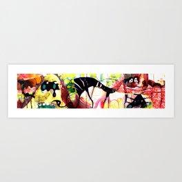 concertina 2  Art Print
