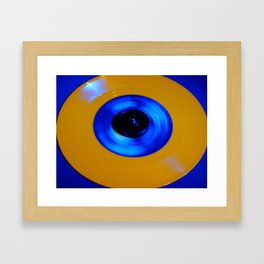 Yellow Blue Record Framed Art Print
