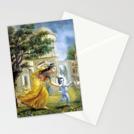 lord krishna in childhood Stationery Cards