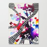 splash Canvas Prints featuring Splash by DuckyB