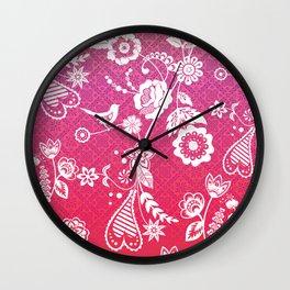 Birds, Flowers, etc. Wall Clock