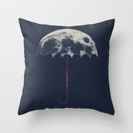 Space Umbrella Throw Pillow