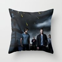 supernatural Throw Pillows featuring Supernatural by Clara J Aira