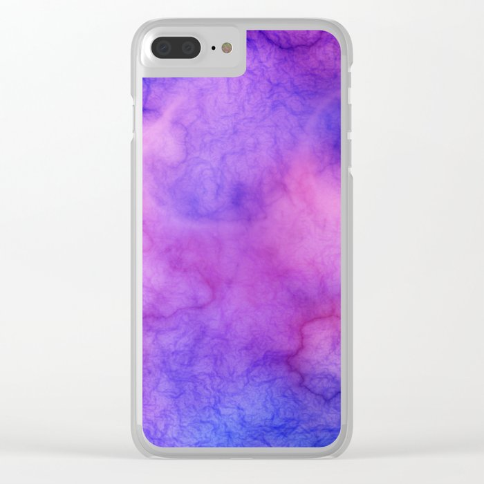 Pink Cloud Marble Clear iPhone Case