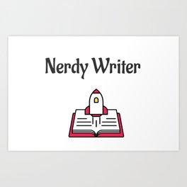 Nerdy Writer Art Print
