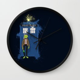Doctor Who Kermit Wall Clock