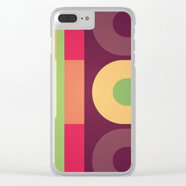 Nice Colour Pattern Clear iPhone Case