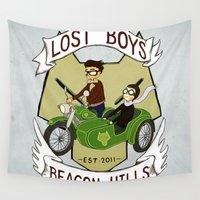 boys Wall Tapestries featuring Lost Boys by Spaggel