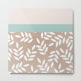 Leaves Patten , Metal Print