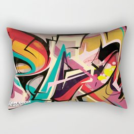 PAGER Graffiti Mural Royal Stain Rectangular Pillow