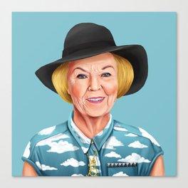 Hipstory - Queen Beatrix of the Netherlands Canvas Print