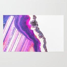 Druze violet agate Rug