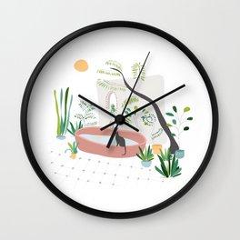 Garden in Bali Wall Clock