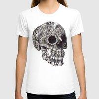 bioworkz T-shirts featuring Ornate Skull by BIOWORKZ