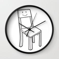 chair boy Wall Clock