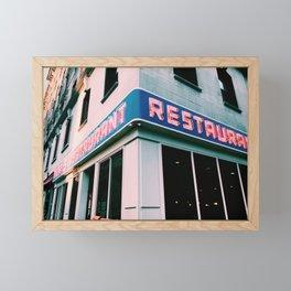 The Seinfeld Restaurant  Framed Mini Art Print