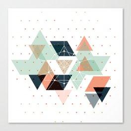 Midcentury geometric abstract nr 011 Canvas Print