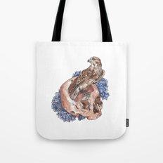 Hawk and Skull Tote Bag