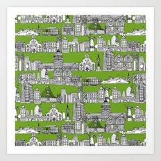 San Francisco green Art Print
