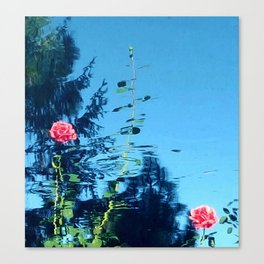 Rose Ripple Reflection Canvas Print