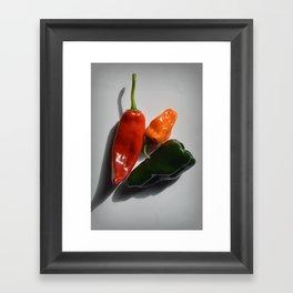 Three Peppers Framed Art Print