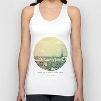 Pale Paris Unisex Tank Top
