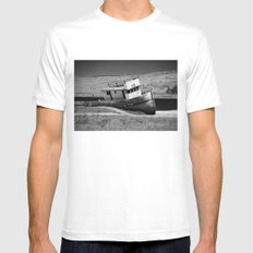 Point Reyes Shipwreck B&W Mens Fitted Tee White MEDIUM