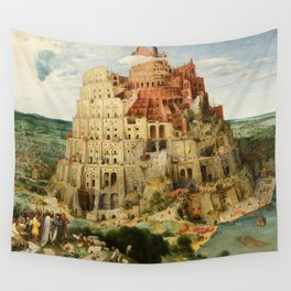 The Tower of Babel 1563 Wall Tapestry