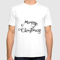 Merry Christmas n.1 White Mens Fitted Tee SMALL