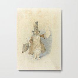Town Crier Rabbit Metal Print