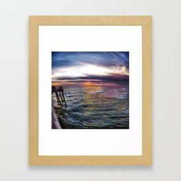 Sun Down Heaven  Town Framed Art Print