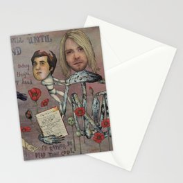 Nirvana - Light My Candles In A Daze Cause My Heart Shaped Box Is Broke Stationery Cards