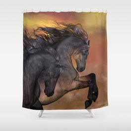 HORSES - On sugar mountain Shower Curtain