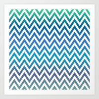 chevron Art Prints featuring Chevron by David Zydd