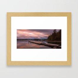 Comox Lake Vancouver Island Framed Art Print